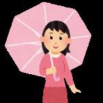 傘をさしたり傘を上手に使うことができない